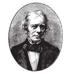 Michael faraday vintage vector
