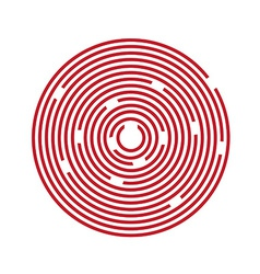 Red maze puzzle vector image