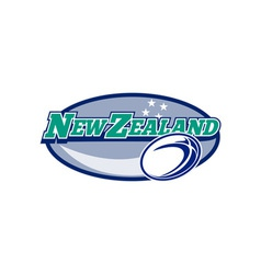 Rugby ball new zealand vector