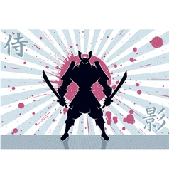 Samurai Background vector image vector image
