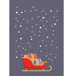 Santa sleigh containing a full of presents vector image