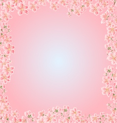 Seamless texture cherry blossoms frame vector