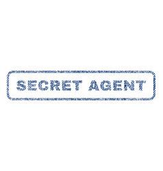 Secret agent textile stamp vector