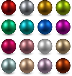 Set of color balls vector image