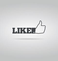Social Like Icon vector image