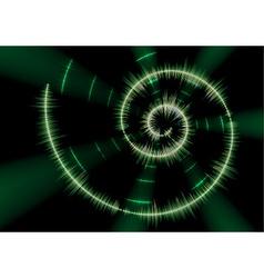 Spiral music waveform vector