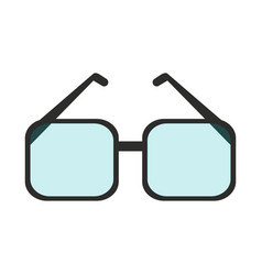 Square frame glasses icon imag vector