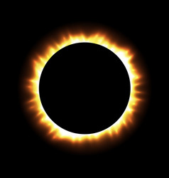 Total eclipse of the sun with corona on vector