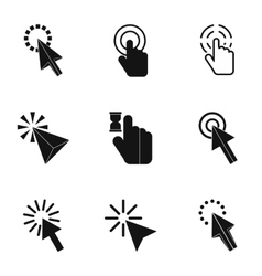 Types of arrows icons set simple style vector