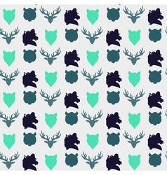Wildlife seamless pattern vector image vector image