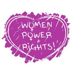 Women power symbol vector