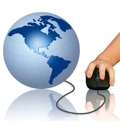 world computer mouse vector image