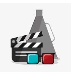 Clapboard cinema and movie design vector