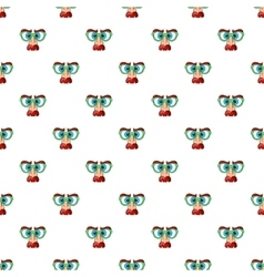 Face of magician pattern cartoon style vector image