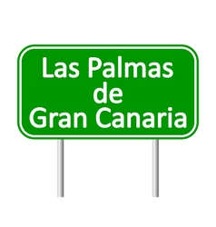 Las palmas de gran canaria road sign vector