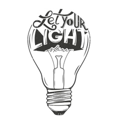 light bulb with vector image