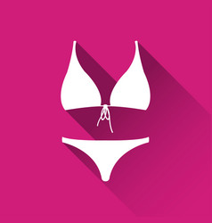 Simple female swimsuit icon bikini symbol vector