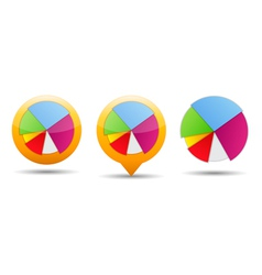 Pie chart icons vector