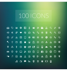 Set of 100 simple universal modern thin line icons vector