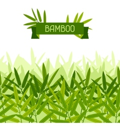 Seamless tropical pattern with stylized bamboo vector image