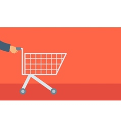 Empty cart vector