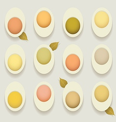 Set of stuffed eggs vector