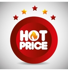 Shopping hot prices theme vector
