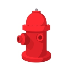 Fire hydrant cartoon icon vector