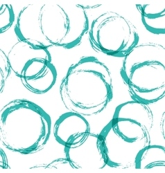 Seamless pattern with distressed dry brush circles vector