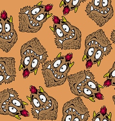 Funny looking monster pattern vector