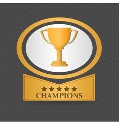 Champion design winner icon colorful vector
