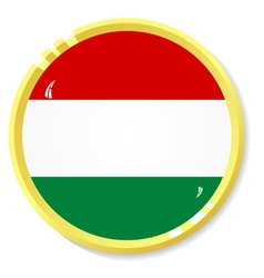 Button with flag hungary vector