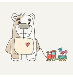 funny cute teddy bear vector image