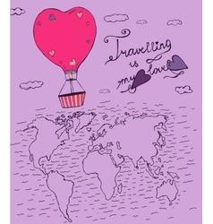 Air Balloons Travel 02 A vector image vector image