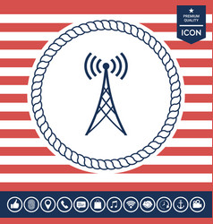 antenna icon vector image