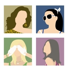 avatars fashionable girls vector image vector image