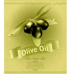 background with olives vector image