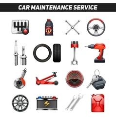 Car maintenance service flat icons set vector