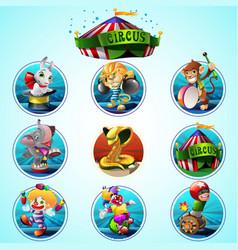 Circus clip art set vector image