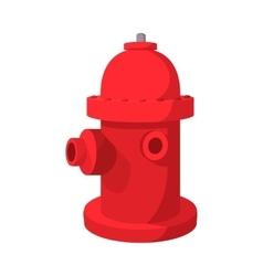 Fire hydrant cartoon icon vector