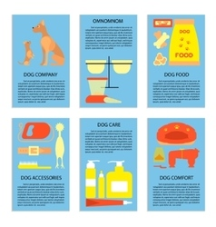 Flyers with dog care vector