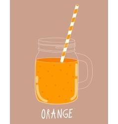 Fresh Orange Smoothie Healthy Food vector image