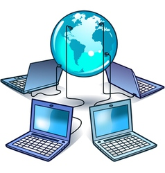 global computer network vector image