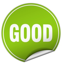 good round green sticker isolated on white vector image