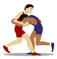 greko-roman wrestling vector image vector image