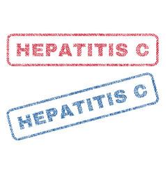 Hepatitis c textile stamps vector