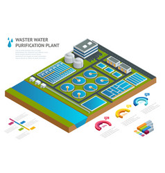 Infographic concept storage tanks in sewage water vector