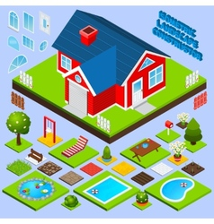 Landscape Design Isometric vector image vector image