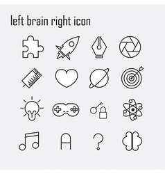 Line icons Brain icon Modern infographic logo vector image