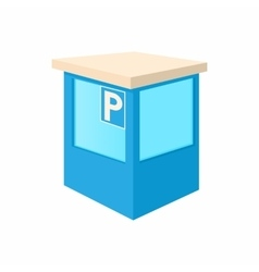 Parking toll booths icon cartoon style vector image